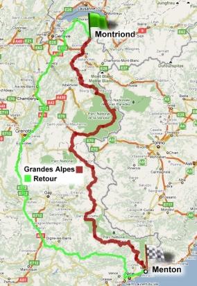 La carte et l 39 itin raire ainsi que le d nivel de la for Haute route des alpes